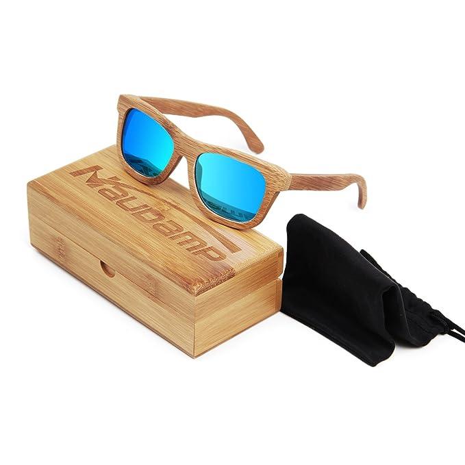 Naudamp Gafas de sol polarizadas de bambú Gafas de mujer para mujer de madera para deportes acuáticos y actividades al aire libre: Amazon.es: Ropa y ...