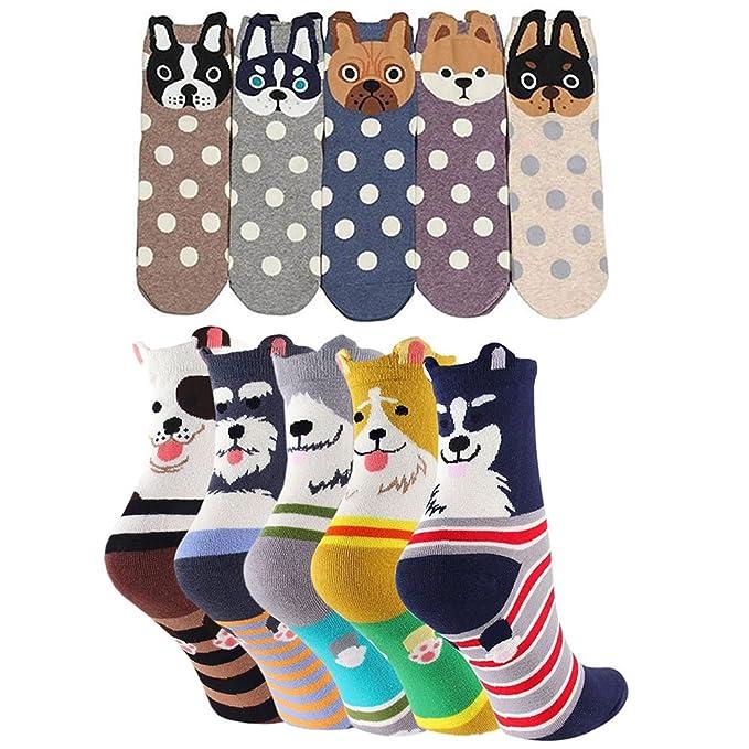 dbb2344955ffc2 Donna Cotone Calzini Termici dei Calze, Cute Cartoon Calzini da Donna,  Traspirante Donna Calze: Amazon.it: Abbigliamento