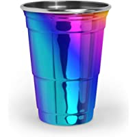Fred & Friends Vaso de fiesta color cobre, Arcoiris (Rainbow), 16-Oz, 1