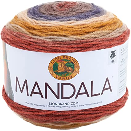 Amazon Com Lion Brand Yarn 525 214 Mandala Yarn Centaur Arts
