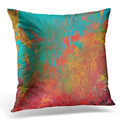Amazon TORASS Throw Pillow Cover Orange Turquoise Gigi's Red Classy Red And Turquoise Decorative Pillows