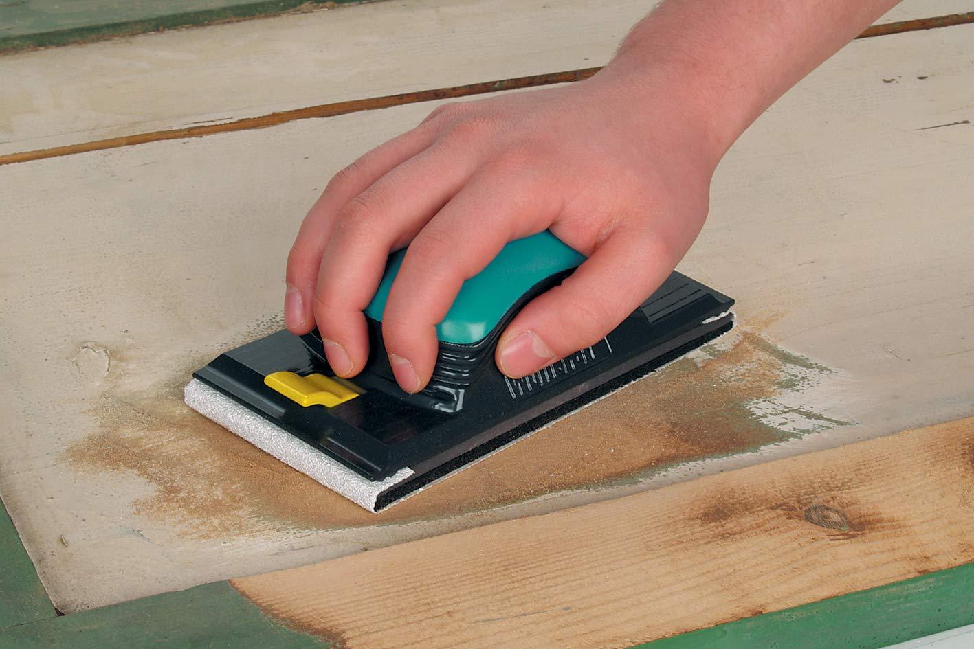 Wolfcraft 5890000 5 M X 93 Mm Levigatrice Universale /& 3174000 Grana 120 Rotolo Di Carta Abrasiva