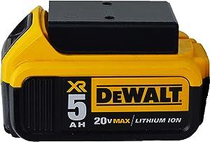 Dewalt 20V Max Battery Holder - Wall Mount and Protective Cover (4-Pack Black)