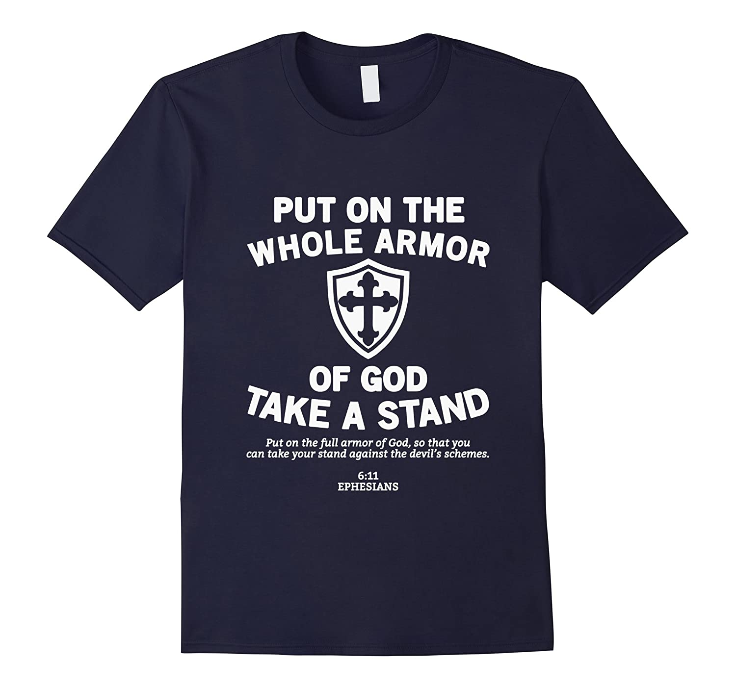 Put On The Whole Armor Of God T-Shirt Christian Bible Verse-PL