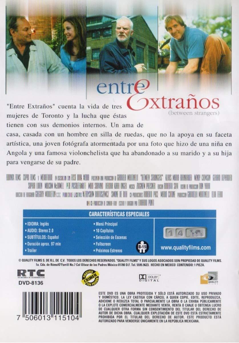 Amazon.com: Between Strangers (Entre Extraños) [NTSC/REGION 1 & 4 DVD. Import-Latin America]: Sophia Loren, Mira Sorvino, Deborah Kara Unger, ...