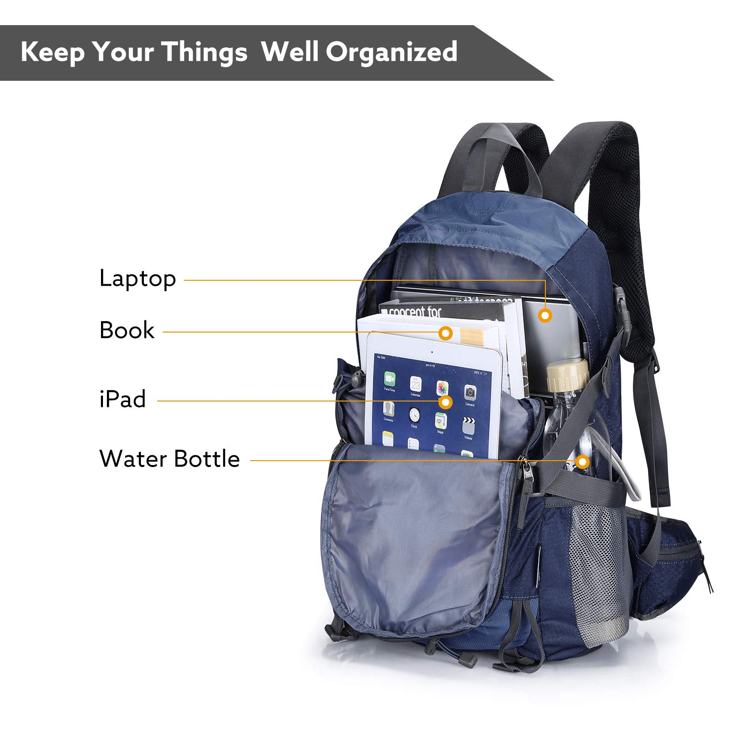 8a3bf5c9ab4d Amazon.com   Promover Hiking Backpack 35 L Backpacks with Waterproof  Outdoor Rain Cover Lightweight and Light DaypacksOutdoor Hiking Travel  Climbing ...