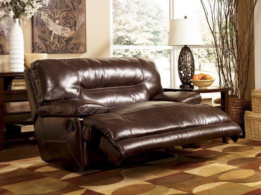 Leather chair and a half recliner - Amazon Com Ashley Furniture Signature Design Exhilaration Oversized Manual Recliner Sofa Reclining Love Seat Chocolate Brown Kitchen Dining