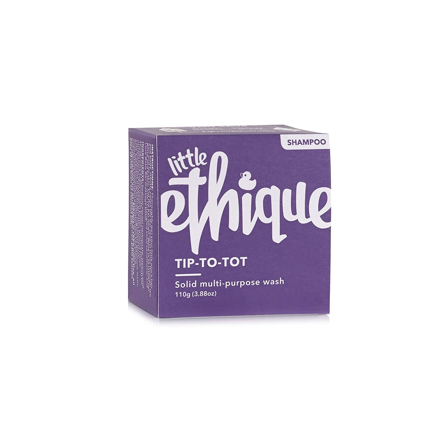 Ethique Eco-Friendly Solid Multi Purpose Wash for Kids, Tip To Tot - Sustainable Natural Tip To Tot Baby Wash from Top to Toe, Plastic Free, Vegan, Plant Based, 100% Compostable and Zero Waste, 3.88oz