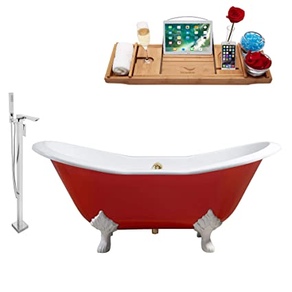 Amazon Com Streamline Cast Iron Tub Faucet Tray Set 61 Rh5161wh