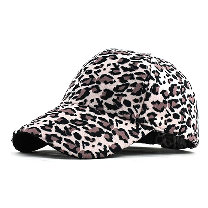 c1febb71 Image Unavailable. Image not available for. Color: New Women's Baseball  Hats Leopard Print Snapback Cap Females Outside ...