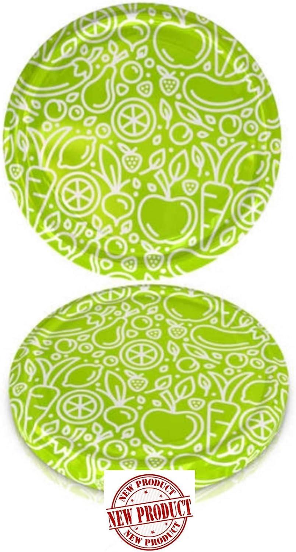 82 mm Spare Lids For Pickle and Larger Jars/Multipurpose (Twist Off Lid) (Green Vegetables, 10)