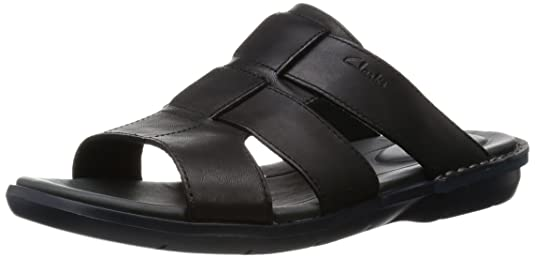Clarks Men's Leather Floaters Sandals & Floaters at amazon