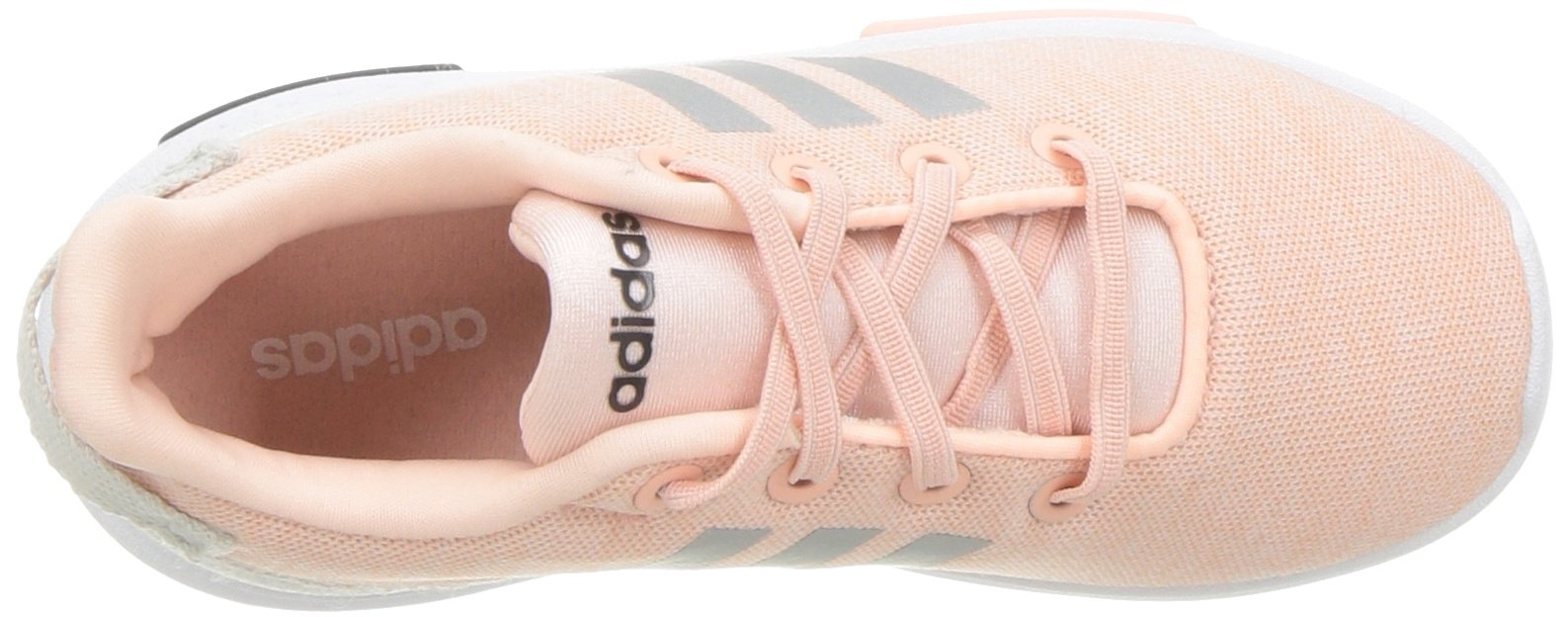 adidas Kids CF Racer TR Running Shoe, Haze Coral/Metallic Silver/White, 4K M US Toddler by adidas (Image #8)