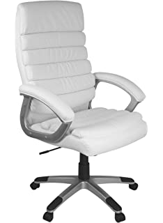 Drehstuhl weiß leder  Bürostuhl Drehstuhl Chefsessel Schreibtisch Stuhl Bürosessel ...