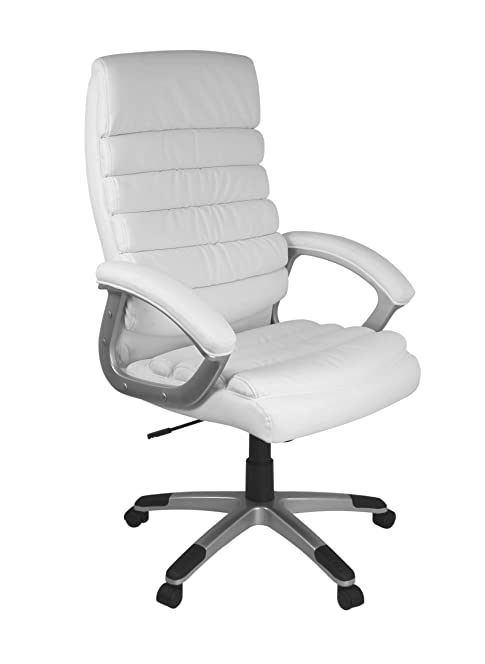 Design schreibtischstuhl  AMSTYLE office chair VALENCIA reference Leatherette White desk ...