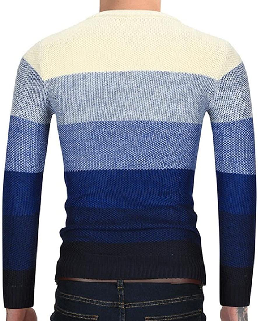 VividYouMen Solid-Colored Knitting Business Oversize Pullover Sweater