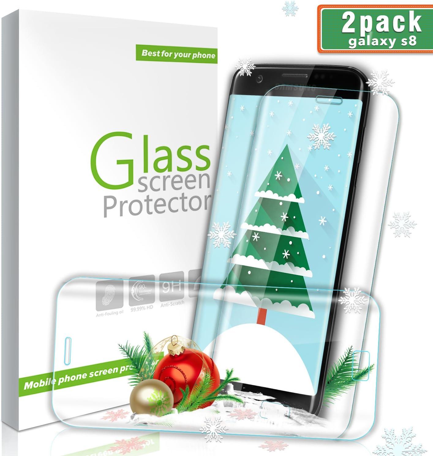 Ultra D/ünn HD Panzerglasfolie mit 3D Touch GIMTON Displayschutzfolie f/ür Galaxy S8 4 St/ück 9H H/ärte Schutzfilm aus Geh/ärtetem Glas f/ür Samsung Galaxy S8