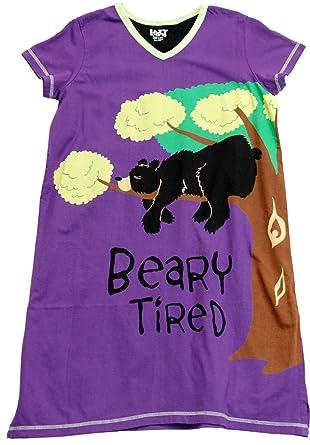 ec72b9e0a0 Lazy One Beary Tired Nightshirt (Purple