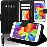 Polyurethane Leather Wallet-Style Flip Case Cover with Video Stand Function for Samsung Galaxy Core Prime SM-G360F/ 4G SM-G361F