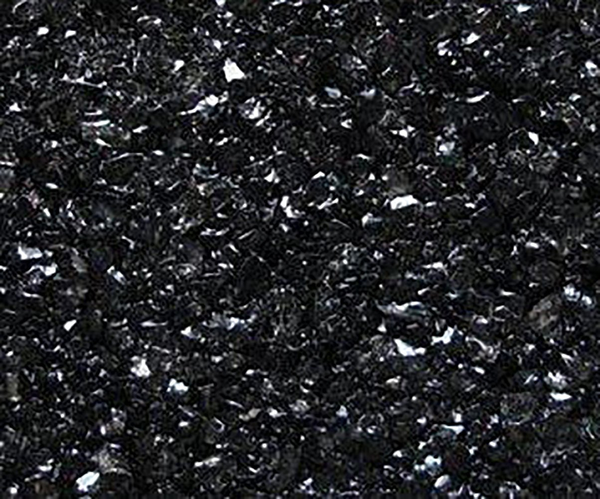 Safe & Non-Toxic {0.06'' to 0.12'' Inch} 25 Pound Bag of Gravel, Sand & Pebbles Decor Made of Genuine Glass for Freshwater & Saltwater Aquarium w/ Dark Edgy Simple Versatile Modern Style [Black]