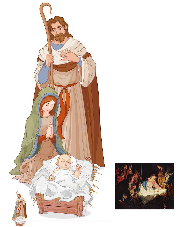 Fan Pack - Classic Nativity Scene Lifesize and Mini Cardboard Cutout / Standup - Includes 8x10 Star Photo BundleZ-4-FanZ Fan Packs