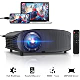 """GBTIGER 4000 Lumens Projector, Video Projector 200"""" LCD Home Theater Projector Connect Smartphone/Ipad Full HD Support 1080P HDMI VGA AV USB MicroSD for Home Entertainment, Movie Party and Games"""