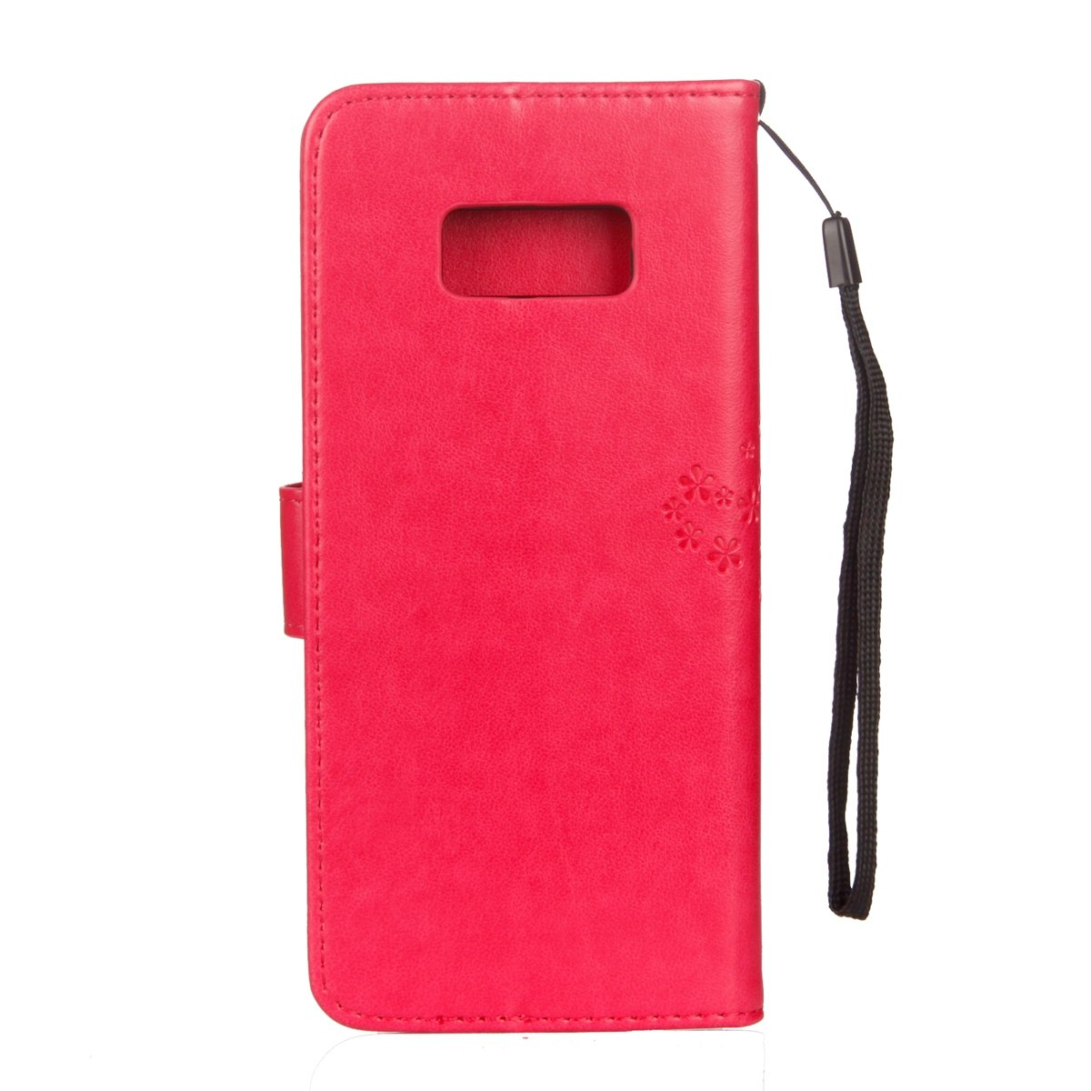 ISAKEN compatibile con Samsung Galaxy S6 Cover Viola chiaro Libro Wallet Flip Case Portafoglio Custodia in PU Pelle Tinta Unita Cover Anti Slip Caso con Supporto di Stand//Carte Slot//Chiusura