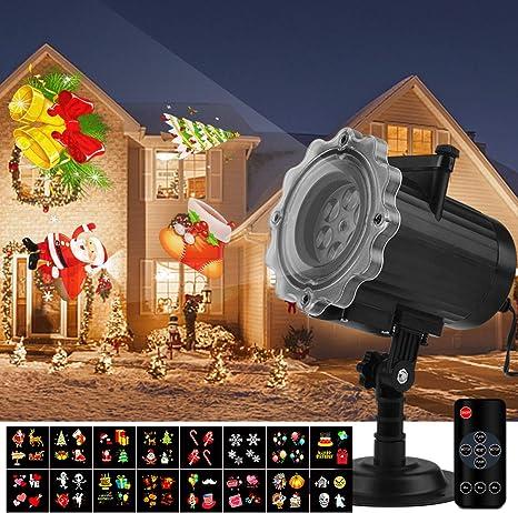 Qomolo Luces Proyector Navidad LED, Lámpara de Proyección de ...