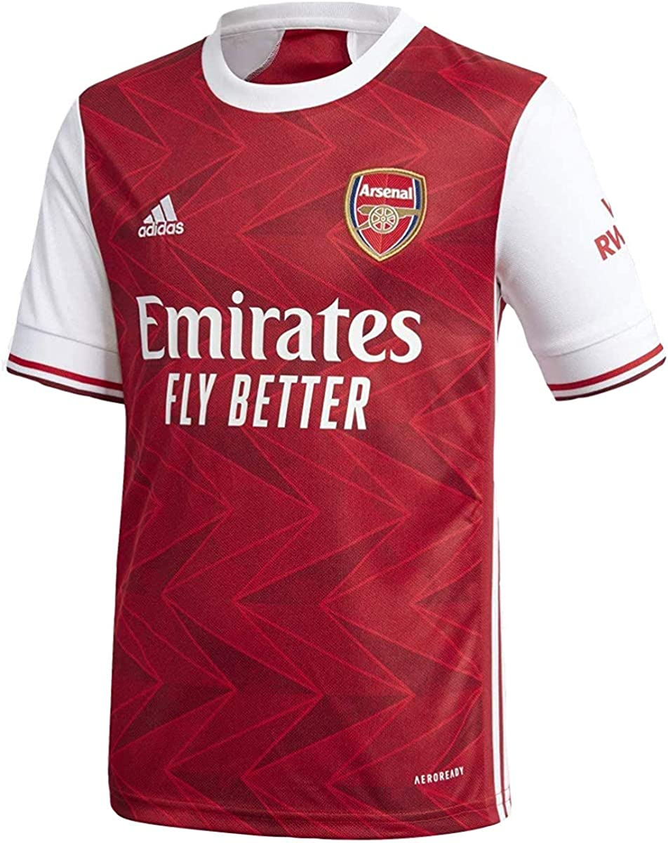 adidas 2020-21 Arsenal Youth Home Jersey - Red-White YXL
