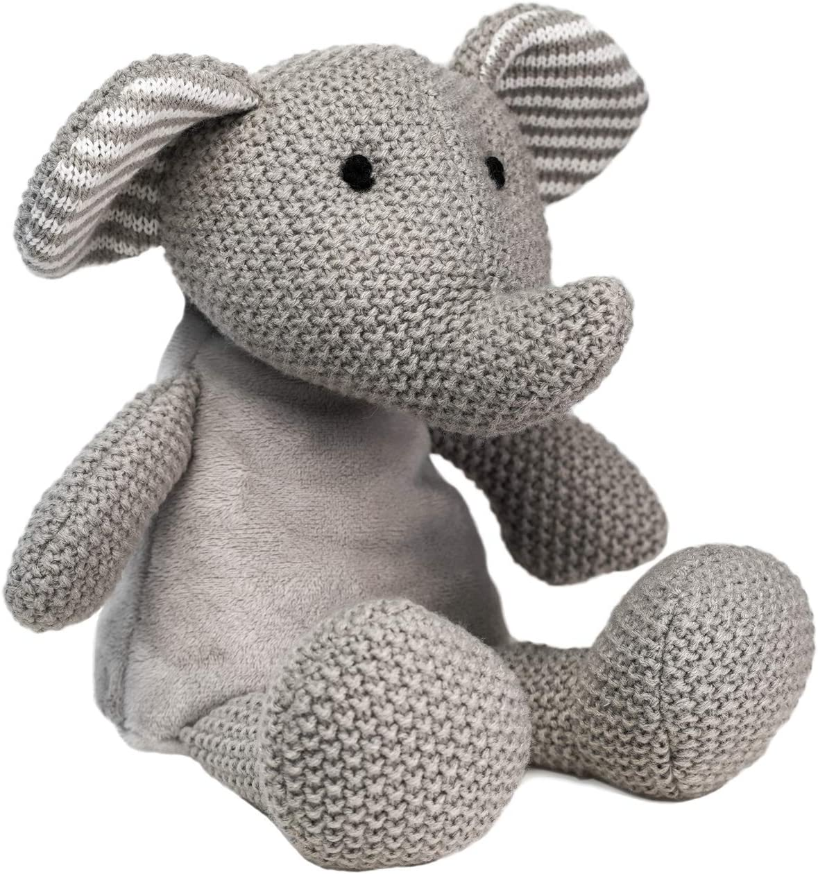 "WILD BABY Microwavable Plush Pal - Cozy Heatable Weighted Stuffed Animal with Aromatherapy Lavender Scent, 12"" Elephant"