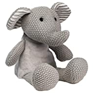 "WILD BABY Heatable Plush Pal Knitted Elephant - 12"" Cute Cozy Hot/Cold Therapy Stuffed Animal with Light Lavender Scent"