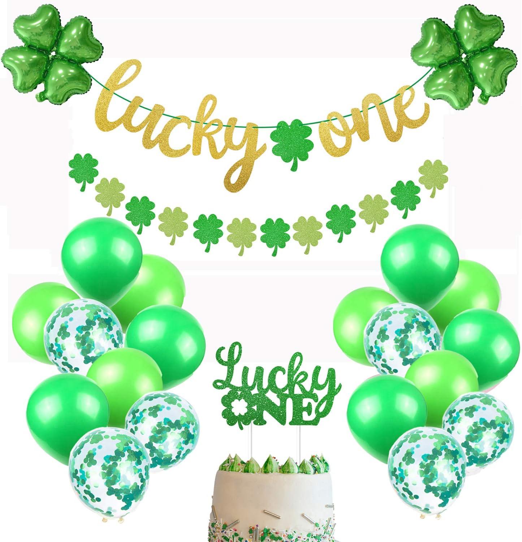 Miraculous Amazon Com St Patricks Day First Birthday Party Decorations Kit Funny Birthday Cards Online Necthendildamsfinfo