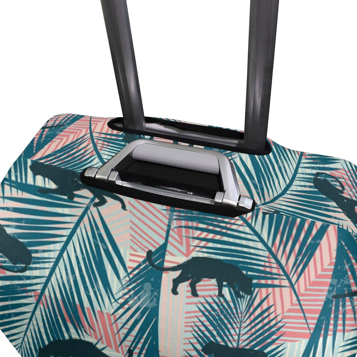 Crawling Leopard Leaf Traveler Lightweight Rotating Luggage Protector Case Can Carry With You Can Expand Travel Bag Trolley Rolling Luggage Protector Case