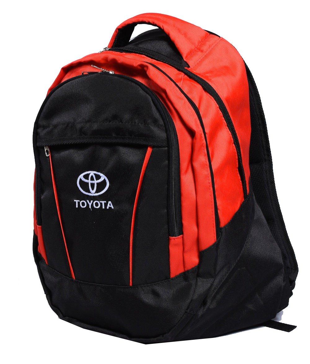 Toyotaロゴバックパックバッグユニセックスレジャースクールレジャーショルダー   B01MU2Q0T4