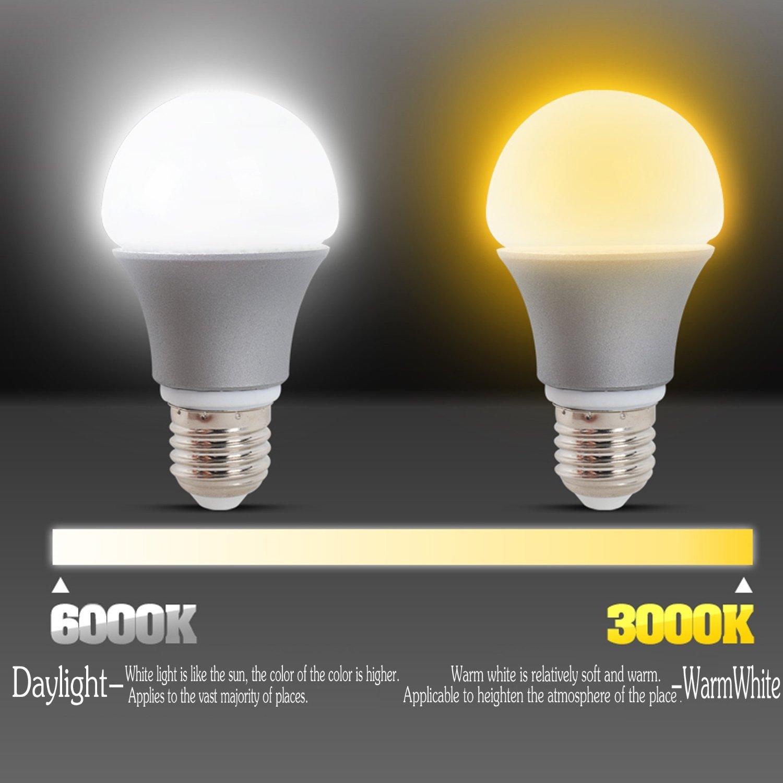 Warm White Light Bulbs: (Pack of 5) LED A19 Light Bulbs, GDS 7 Watt Warm White 3000K LED Home  Lighting, 40-Watt Light Bulbs Equivalent, E26 Medium Screw Base LED Bulb,  650 Lumens ...,Lighting