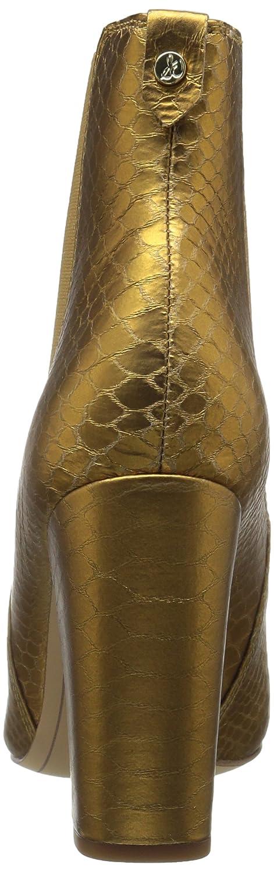 Sam Edelman Women's Case Chelsea Boot B06XBZY6N8 8.5 B(M) US|Gold Snake Print Leather
