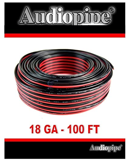 Amazon audiopipe 100 feet 18 ga gauge red black 2 conductor audiopipe 100 feet 18 ga gauge red black 2 conductor speaker wire audio cable keyboard keysfo Gallery