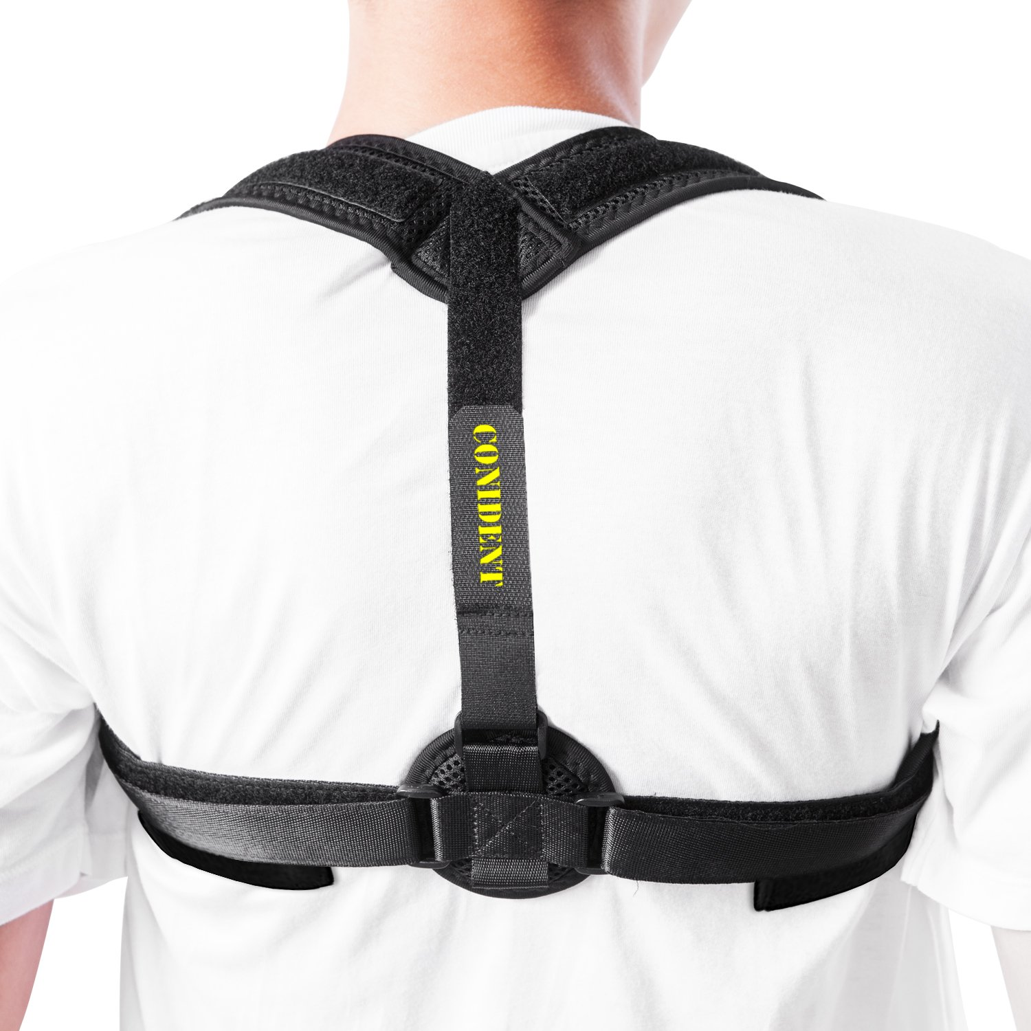 Back Support Brace& Posture Corrector for Women& Men, Clavicle Brace, Thoracic Back Brace& Shoulder Support with Underarm Pad& Carry Bag, Providing Back Pain, Neck Pain, Kyphosis& Hunchback Relief