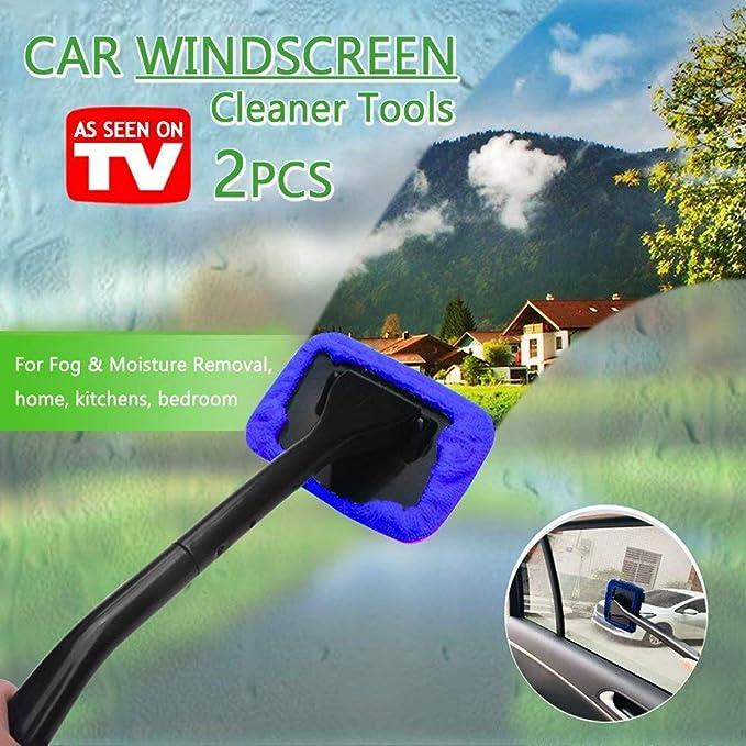 DSHT Paquete de 2 Herramientas limpiadoras de Parabrisas de Autos Desde la Ventana Interior Herramientas de Limpieza de vidrios para cocinas caseras con ...