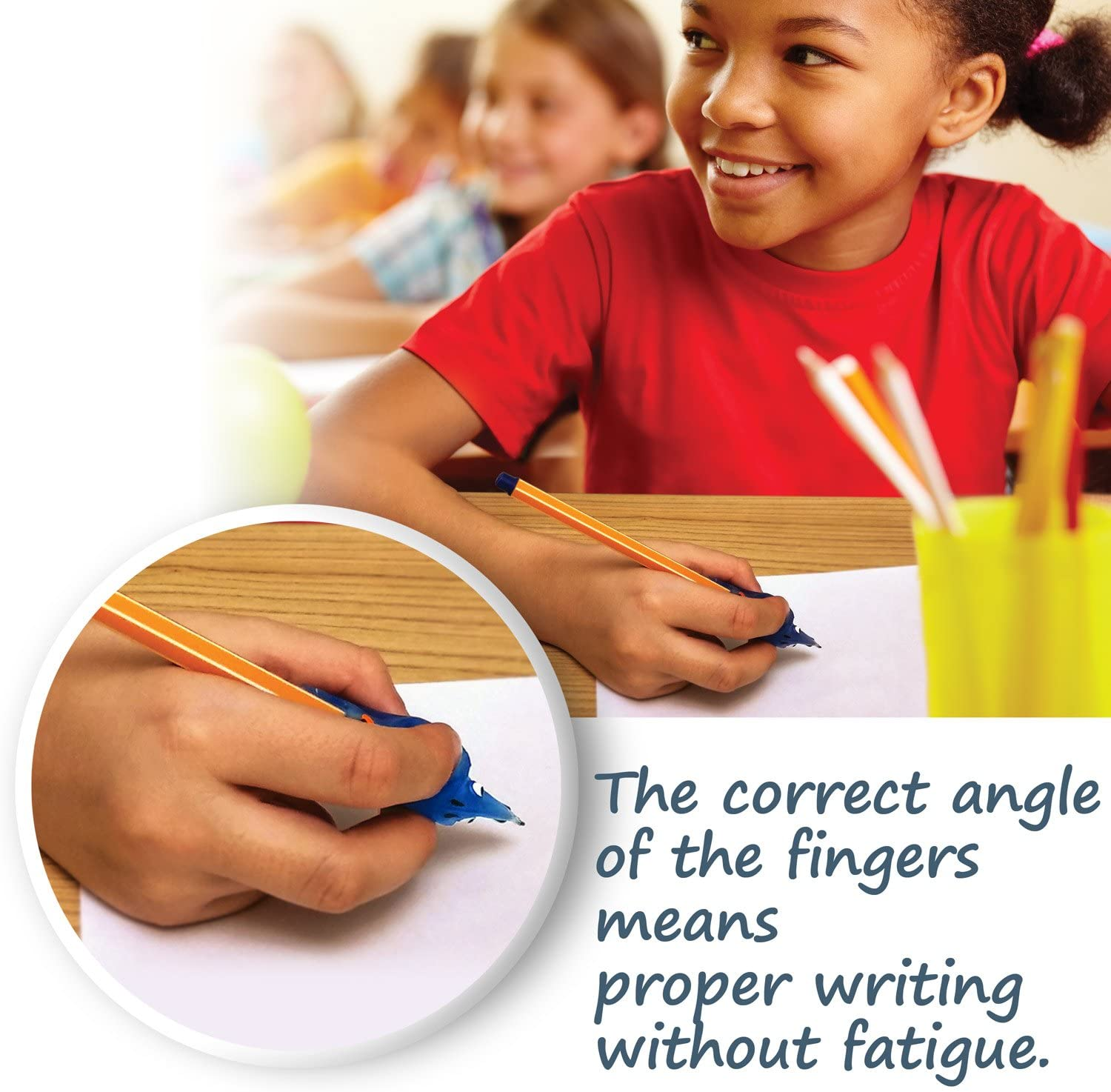 Writing Claw for Legible Hand Writing for Right and Left Handers Blue Green