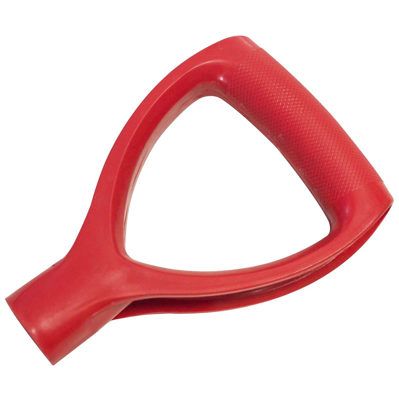 AM-TECH D-SHAFT REPLACEMENT WOODEN HANDLE PLASTIC TOP GARDEN SHOVEL SPADE FORK 17cm x 3cm