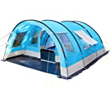 Skandika Helsinki Family Tunnel Tent with Moveable Front Wall, a Dividable Sleeping Cabin and 5000 mm Water Column, 6 Person/Man