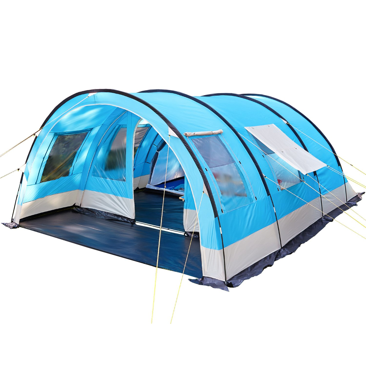 new arrivals db483 64fcc Skandika Helsinki Family Tunnel Tent with Moveable Front Wall, a Dividable  Sleeping Cabin and 5000 mm Water Column, 6 Person/Man