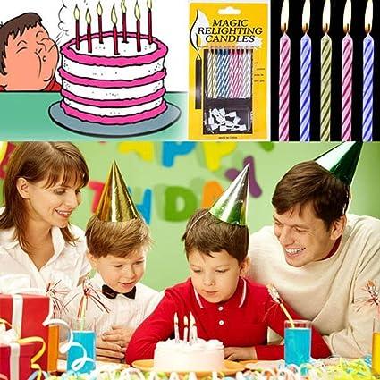 Amazon Genenic 10pcs Fun Cake Party Funny Magic Candles Toys