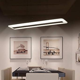 60W Acrilico Lampara LED luz pendiente moderna luminaria LED lampara colgante para comedor cocina sala de estar dormitorio blanco frio=6000K: Amazon.es: Iluminación