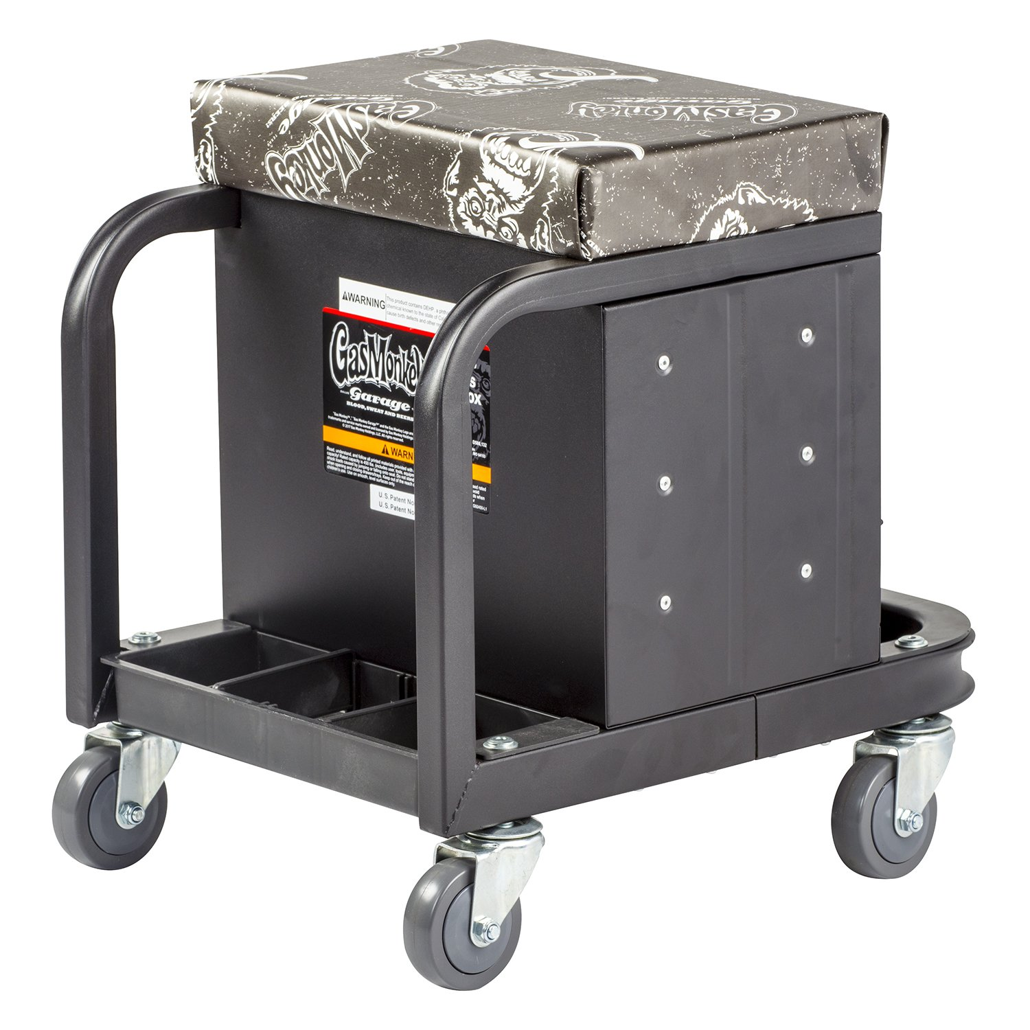 Gas Monkey Creeper Seat and Tool Box Combo - 3-Drawers Toolbox with 4 Rolling Casters - 450 Lbs Capacity by Gas Monkey (Image #4)