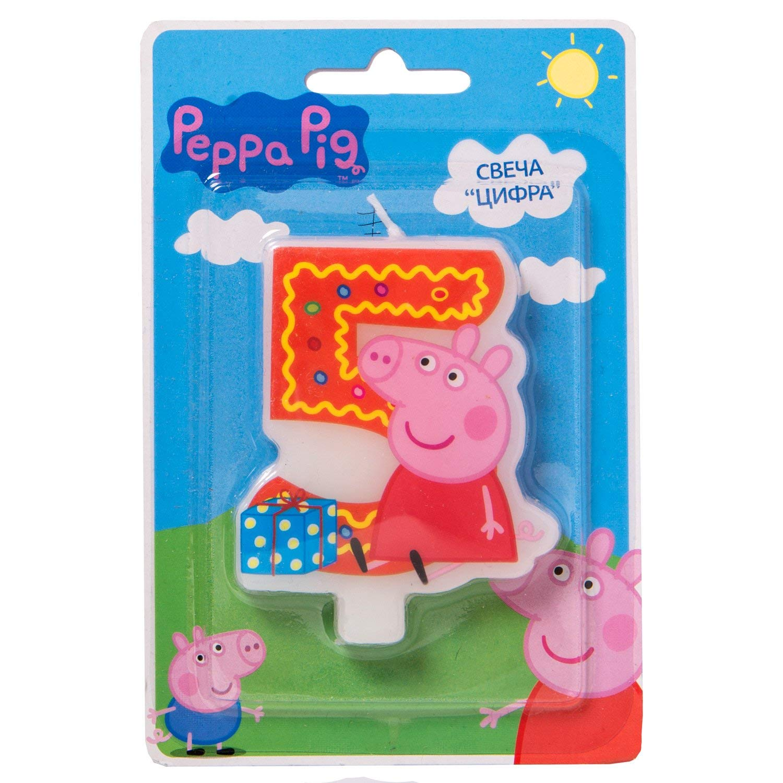 Amazon.com: Pastel Cupcake Topper vela 5 años Peppa Pig ...