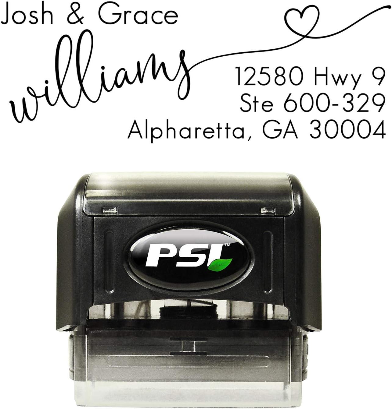 Personalized Address Stamp Black Ink Custom Self Inking Stamper