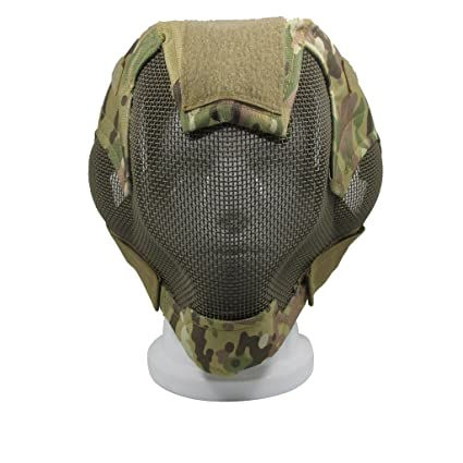 Paintball V6 Steel Net Mesh Fencing Mask Full Face Protective Tactical Mask Airsoft Military Cosplay War Games Accessories Mask Back To Search Resultshome