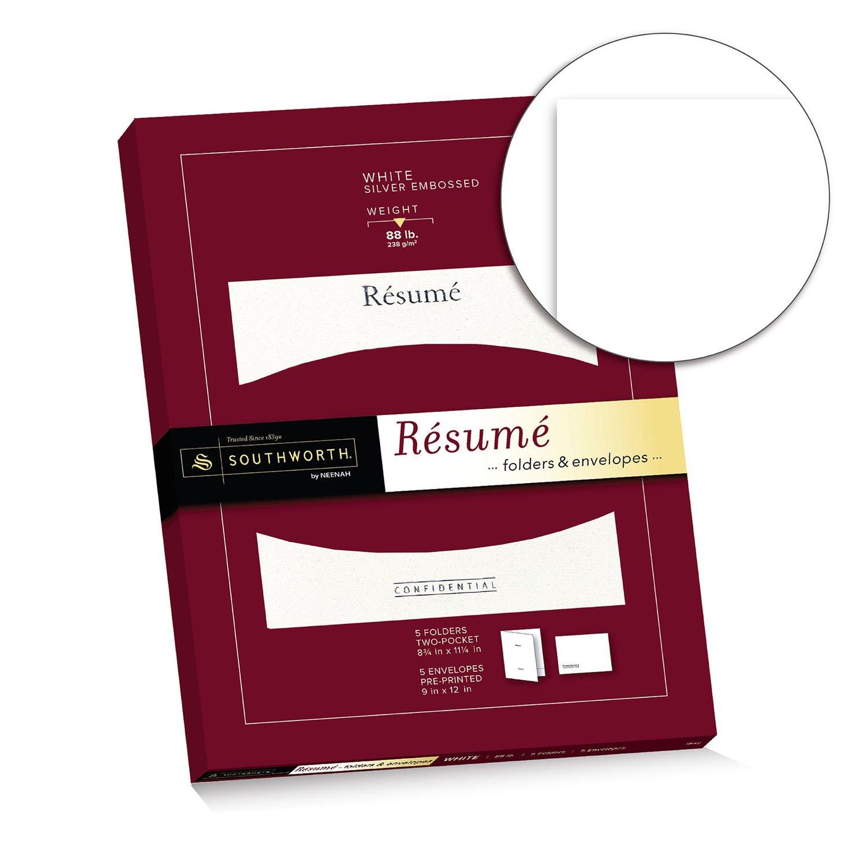 Amazon.com : Southworth Exceptional Resume Folders/Envelopes Packet ...